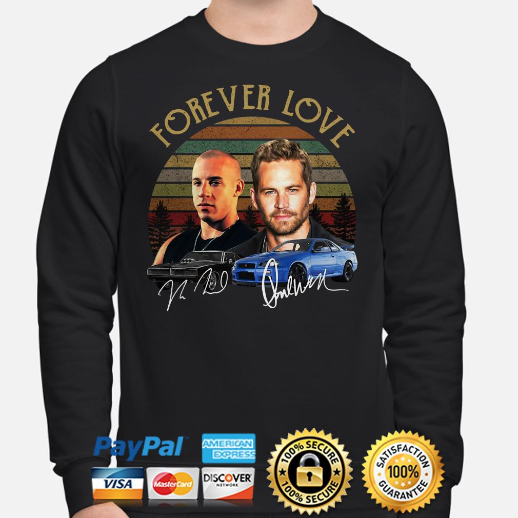 Forever Love Dominic Toretto And Brian Oconner Fast And Furious Signature Vintage Sweater