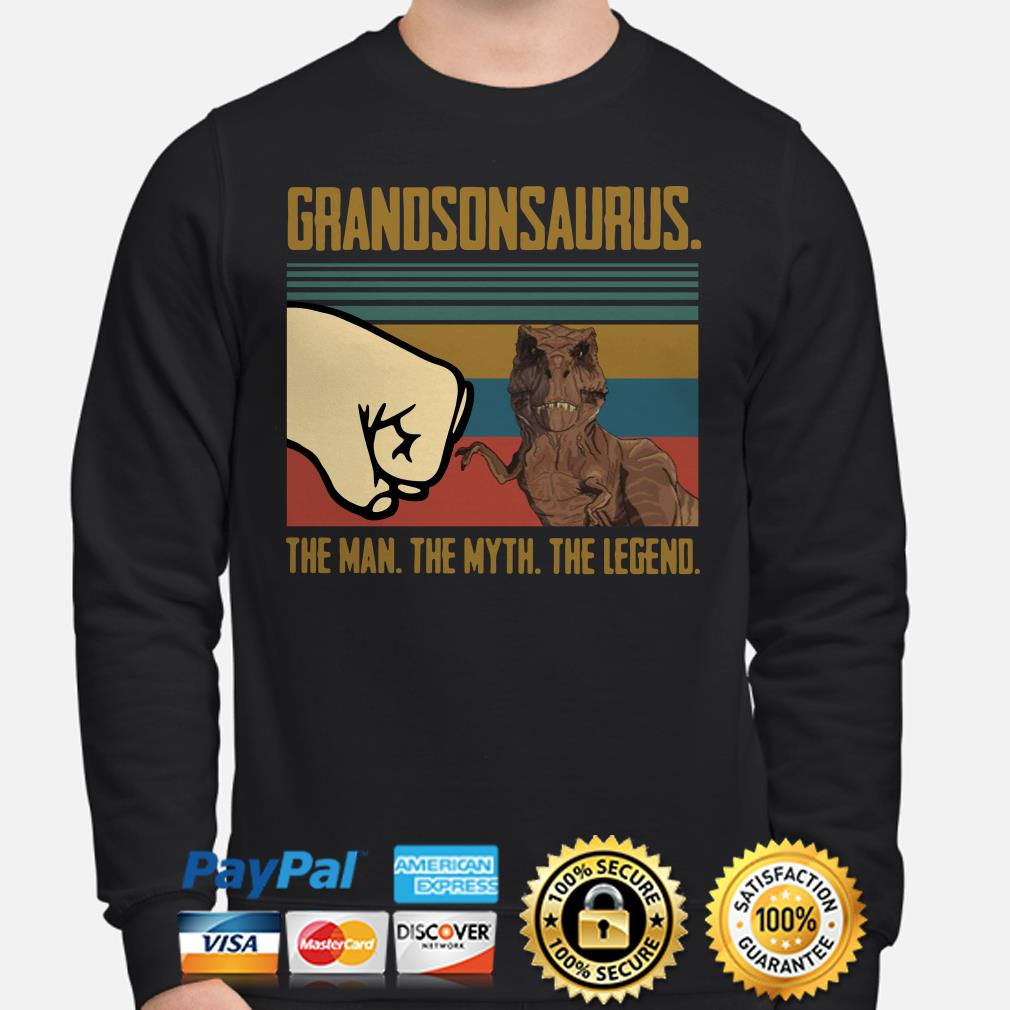 Grandsonsaurus The Man The Myth The Legend Vintage Sweater