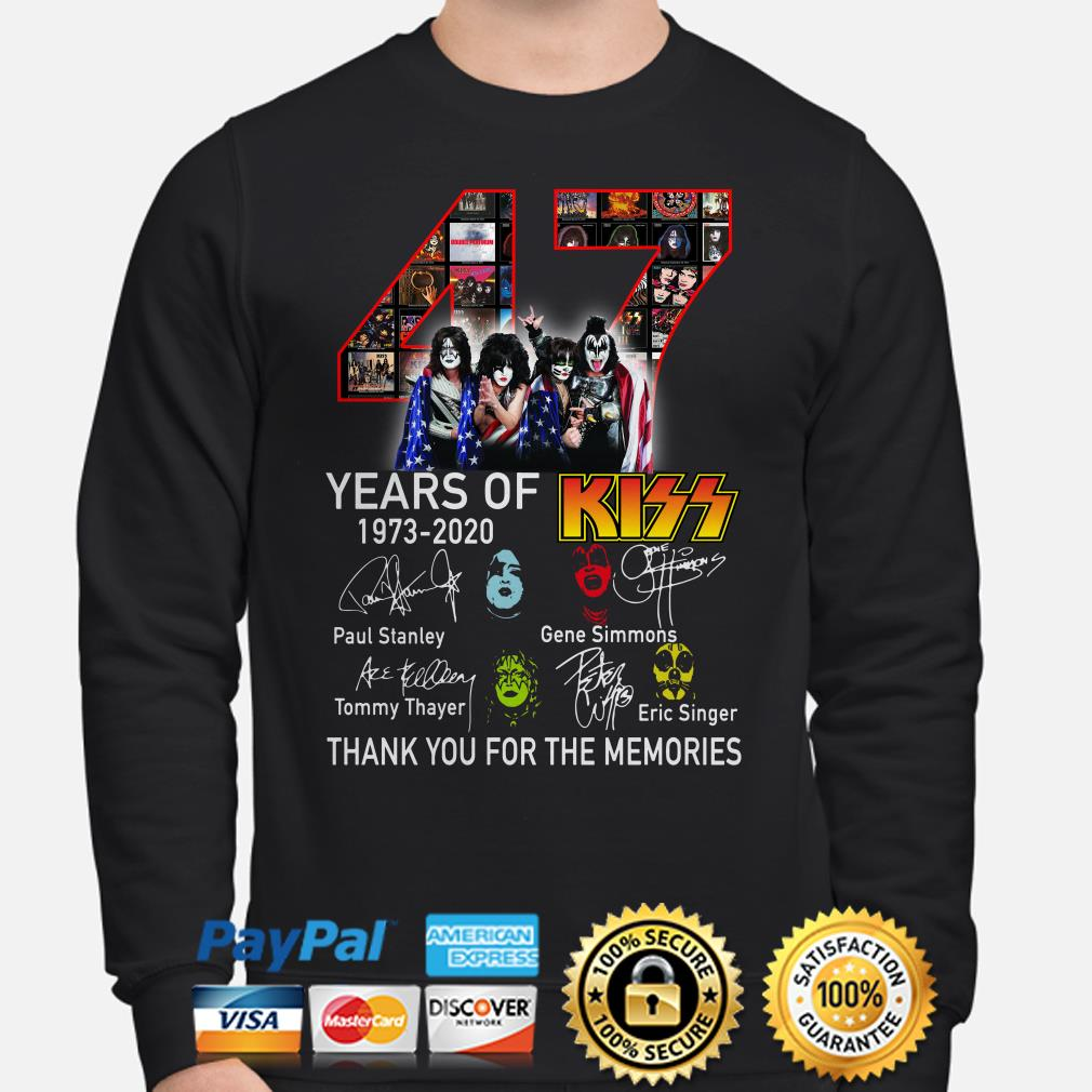 47 years of Kiss thank you for the memories signature Sweater
