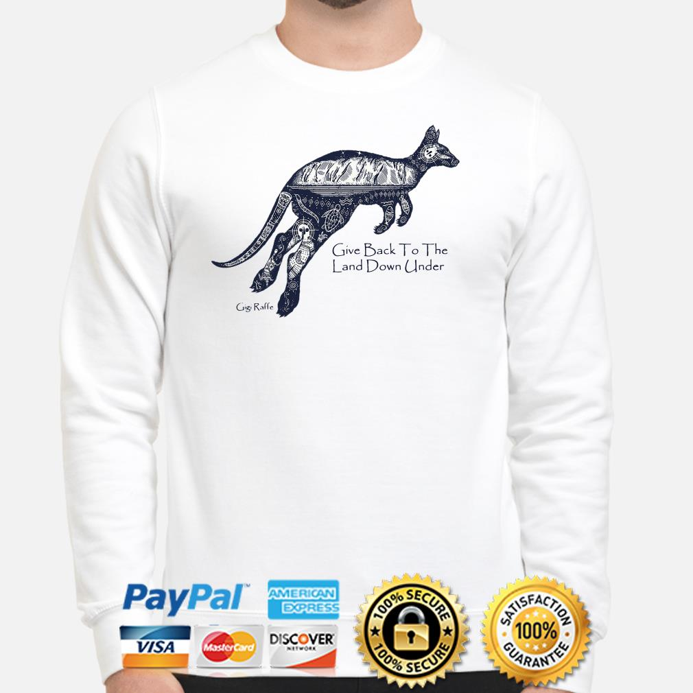 Kangaroo give back to the land down under Sweater
