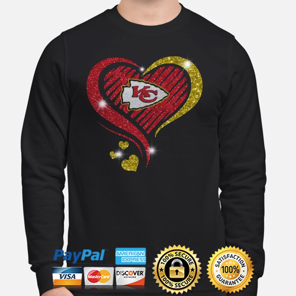 Kansas City Chiefs heart diamond Sweater
