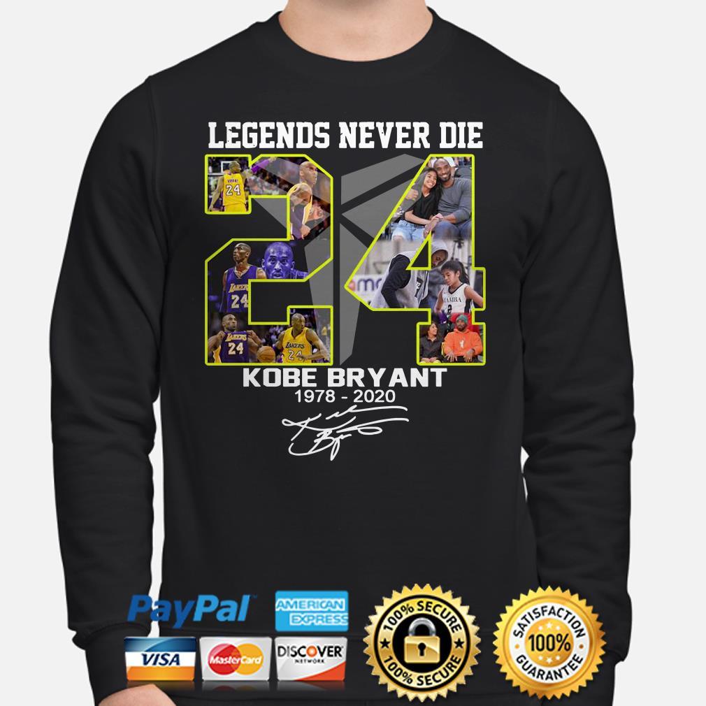 Legends never die Kobe Bryant Black Mamba 1978 2020 signature Sweater