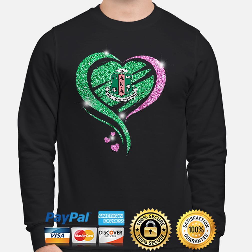 AKA Diamonds Heart Aka Alpha Kappa Alpha Sweater