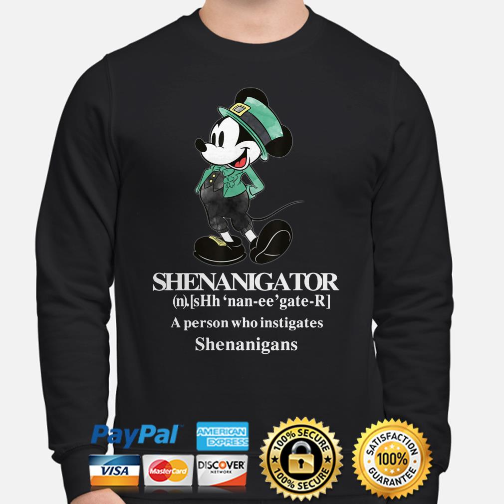 Mickey Mouse Shenanigator a person who instigates Shenanigans Sweater