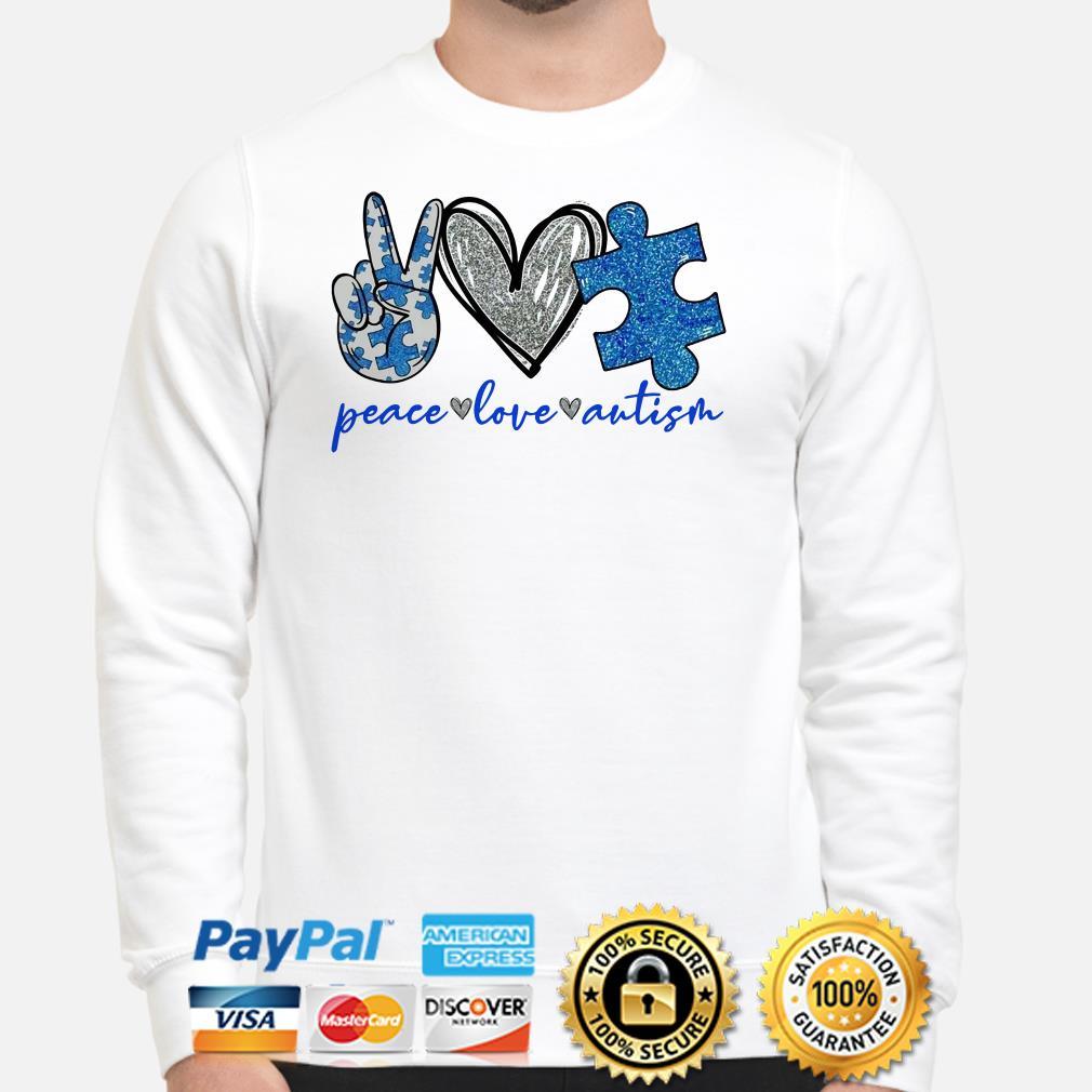 Peace love Autism heart Diamonds Sweater
