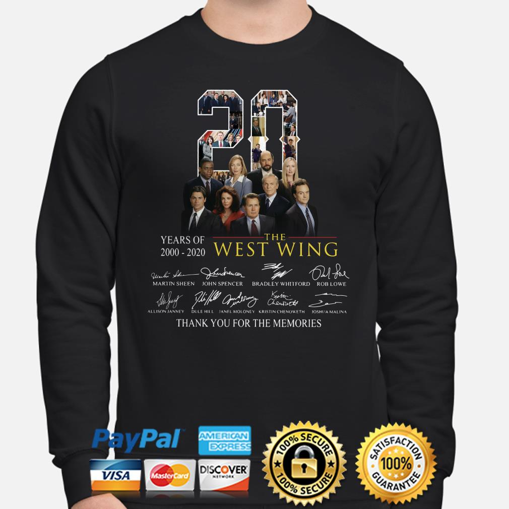 20 years of The West Wing thank you for the memories signature Sweater