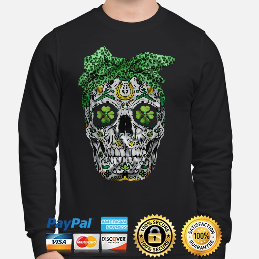 Skull Bandana St Patricks Day Sweater