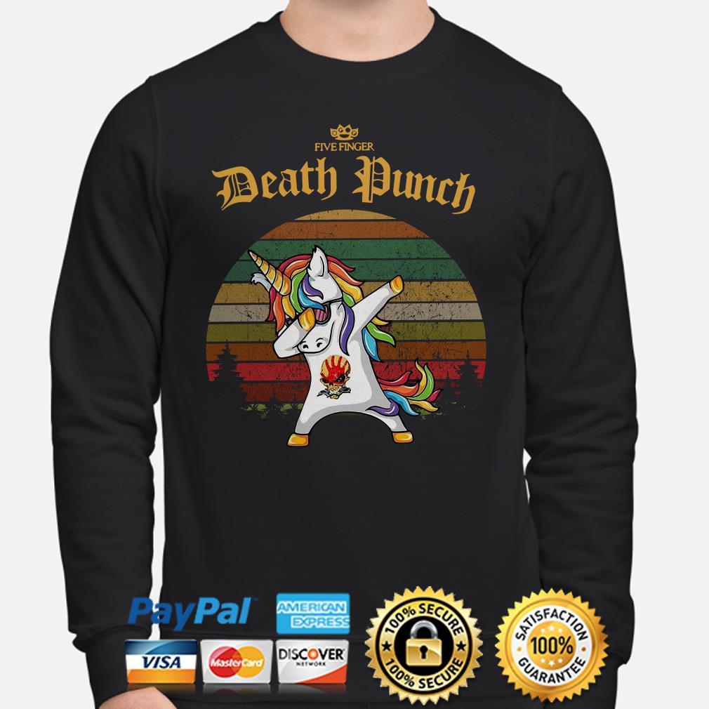 Unicorn dabbing Five Finger Death Punch vintage Sweater