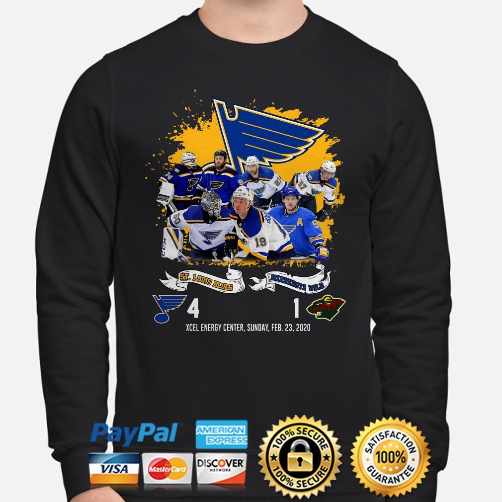 St. Louis Blues Minnesota Wild 4-1 Xcel Energy, Sunday,feb. 20, 2020 Sweater