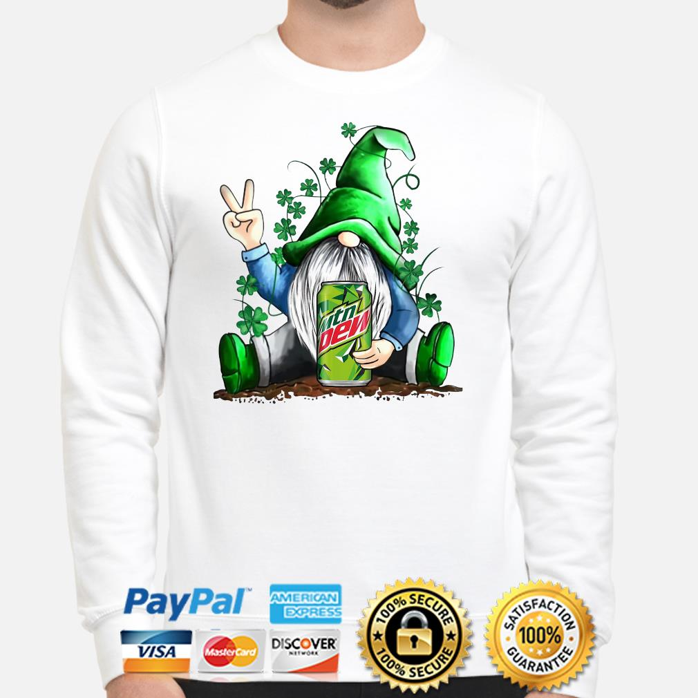 Gnomie hug Mountain Dew Shamrock St Patrick's day Sweater