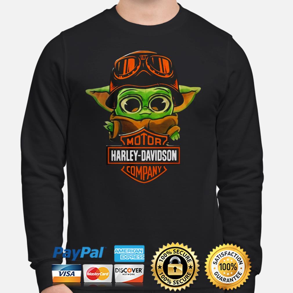 Baby yoda Motor Harley Davidson Sweater