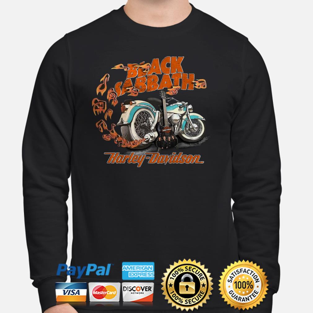 Motor guitar Black Sabbath Harley Davidson Sweater
