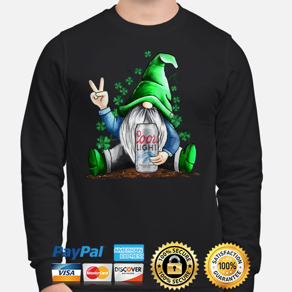 Irish Gnome hug Coors Lights beer St Patricks Day Sweater