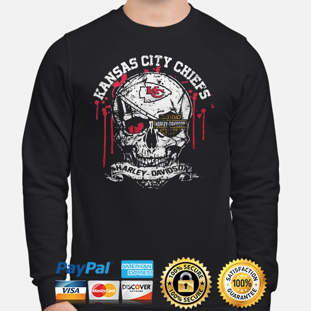 Kansas City Chiefs Harley Davidson skull Sweater