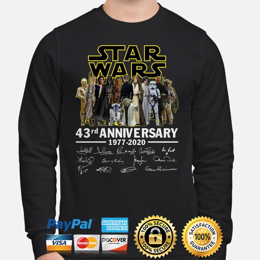 Star Wars 43rd Anniversary characters signature Sweater