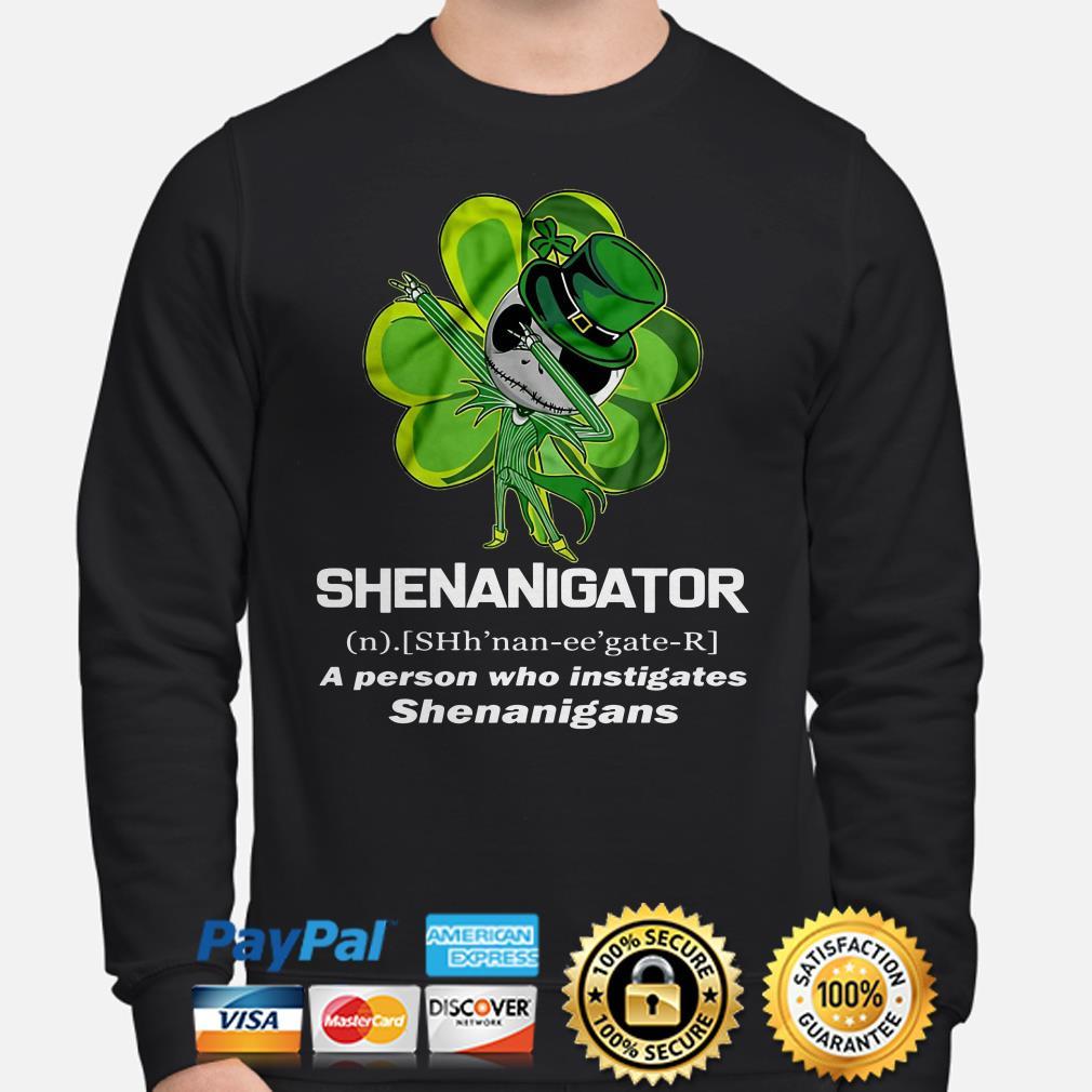 Jack Skellington Shenanigator a person who instigates Sweater