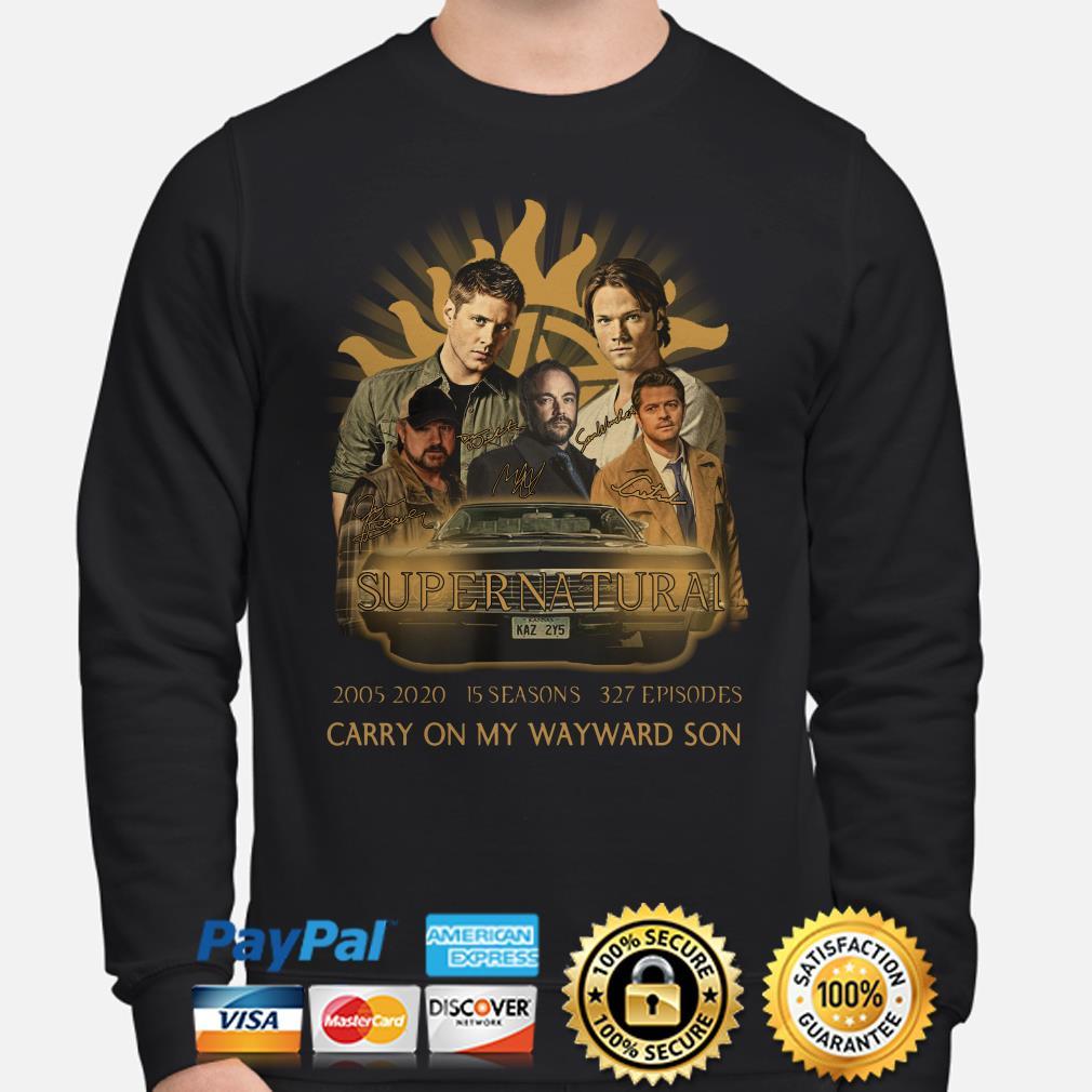 Supernatural 2005 2020 15 seasons Carry On My Wayward Son Sweater