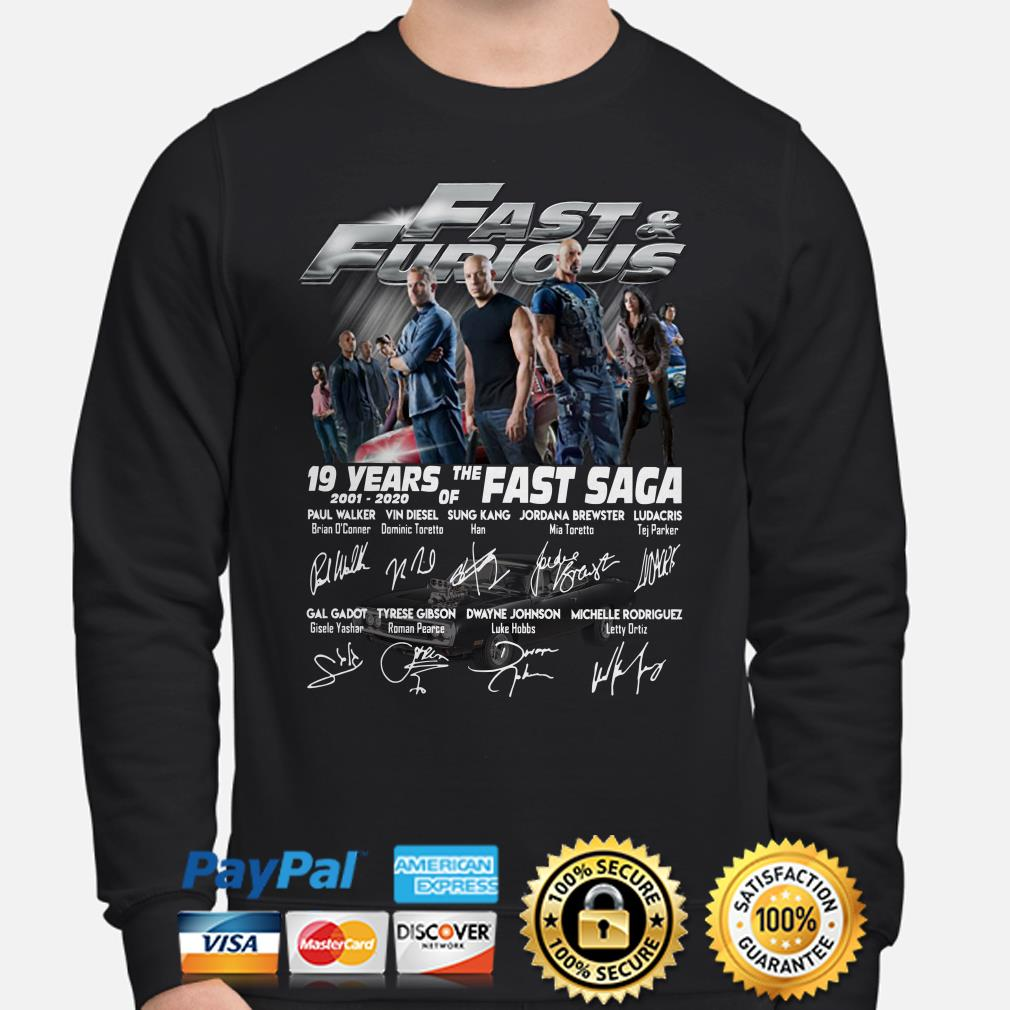 Fast And Furious 19 years of the Fast Saga signatures Sweater