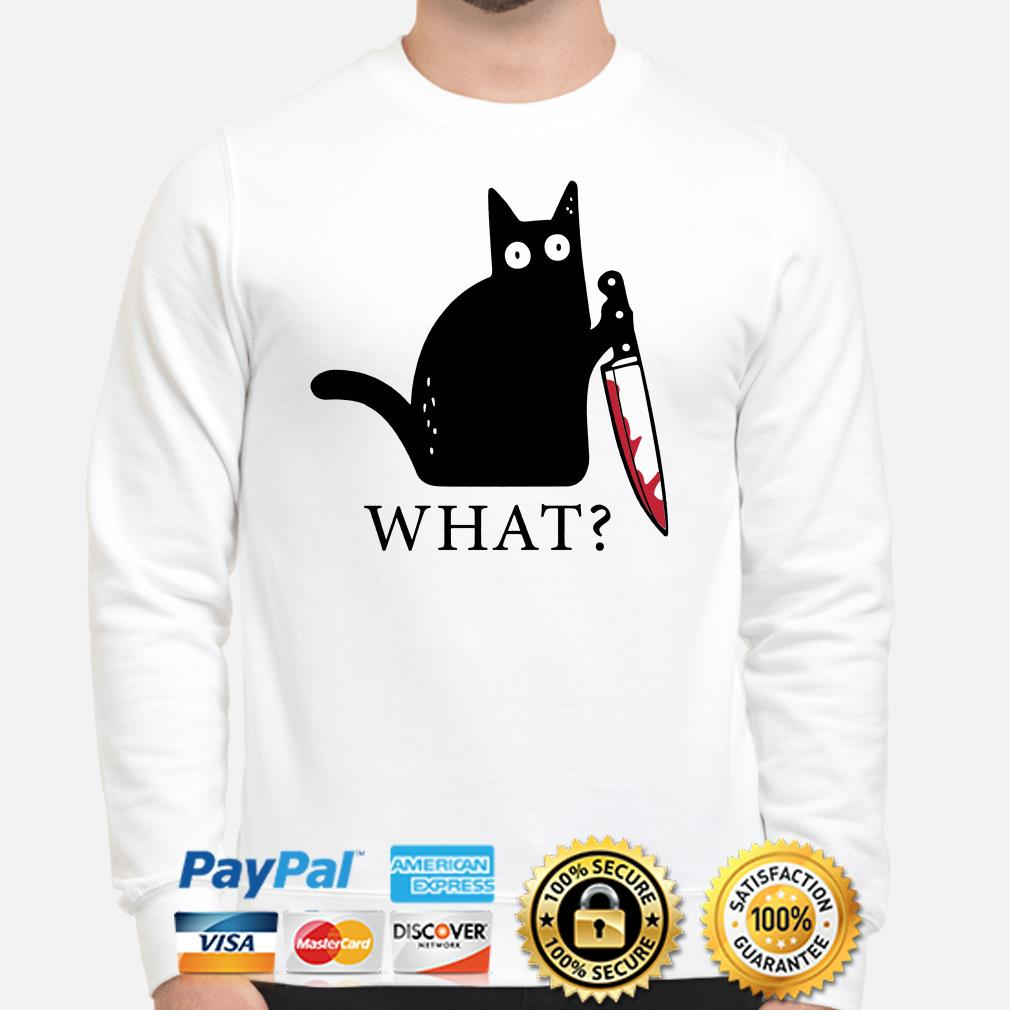Black cat blood knife what Sweater