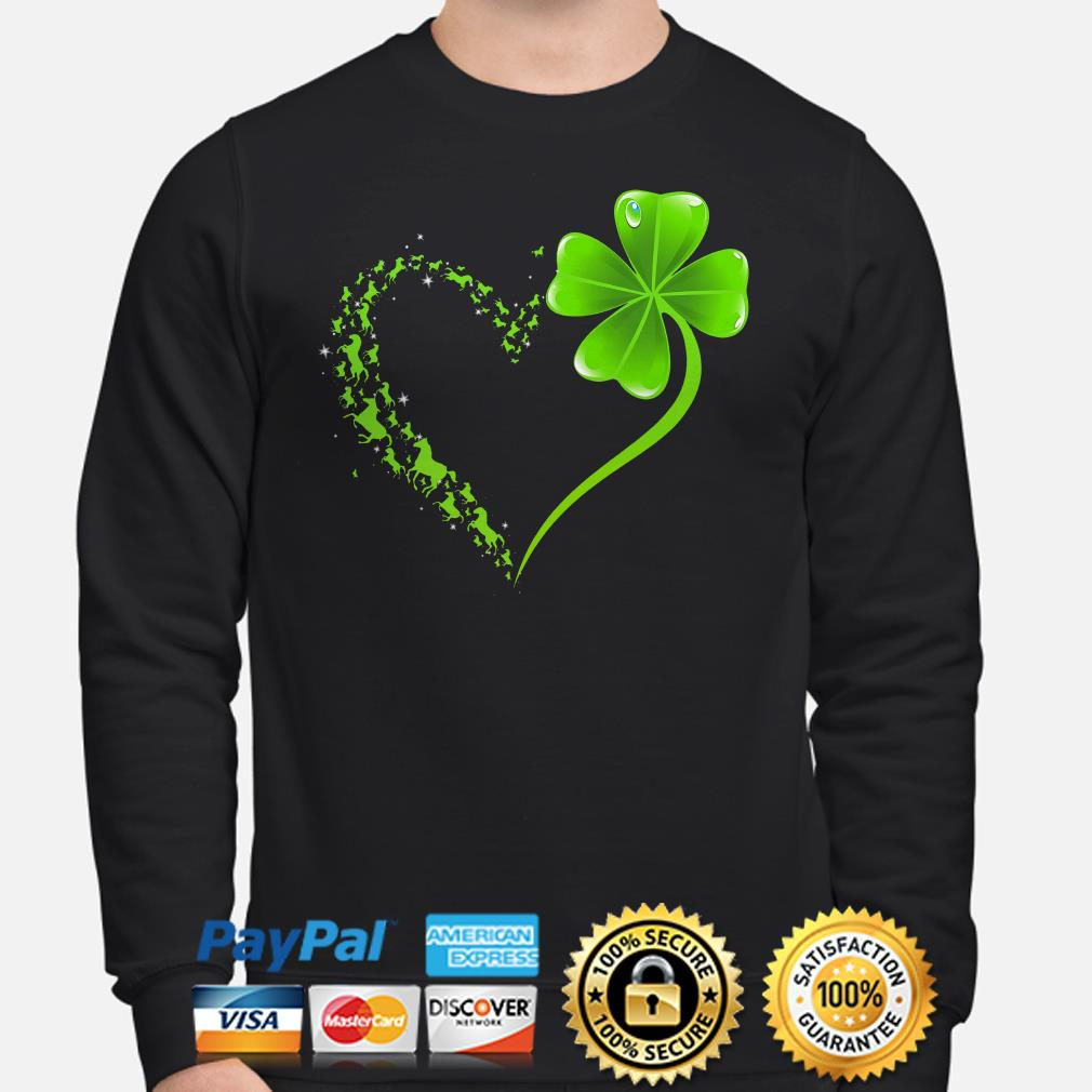 Horses Irish heart St Patrick's day Sweater