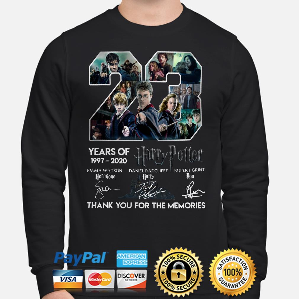 23 years of Harry Potter thank you for the memories signature Sweater