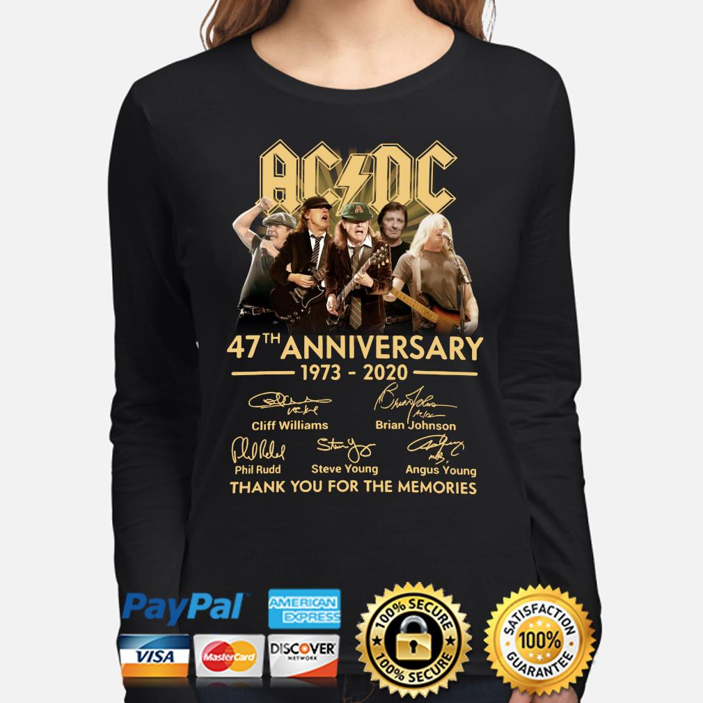 AC DC 47th anniversary thank you for the memories signature s long-sleeve