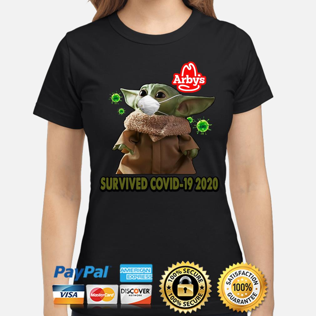 Baby Yoda Arby's Survived Covid-29 2020 s ladies-shirt