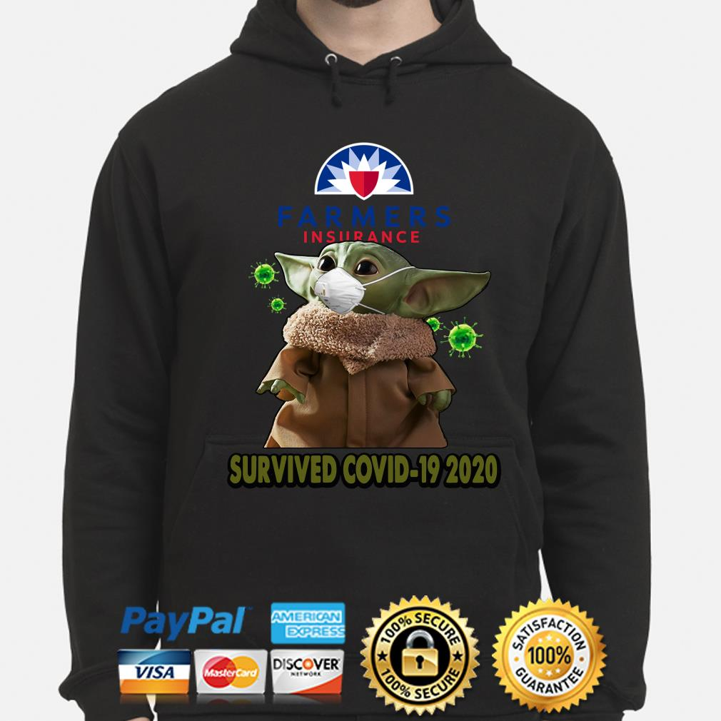 Baby Yoda Farmers Insurance Survived Covid-19 2020 s hoodie