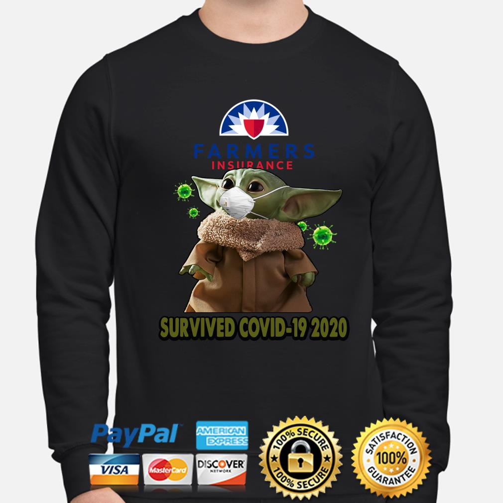 Baby Yoda Farmers Insurance Survived Covid-19 2020 s sweater