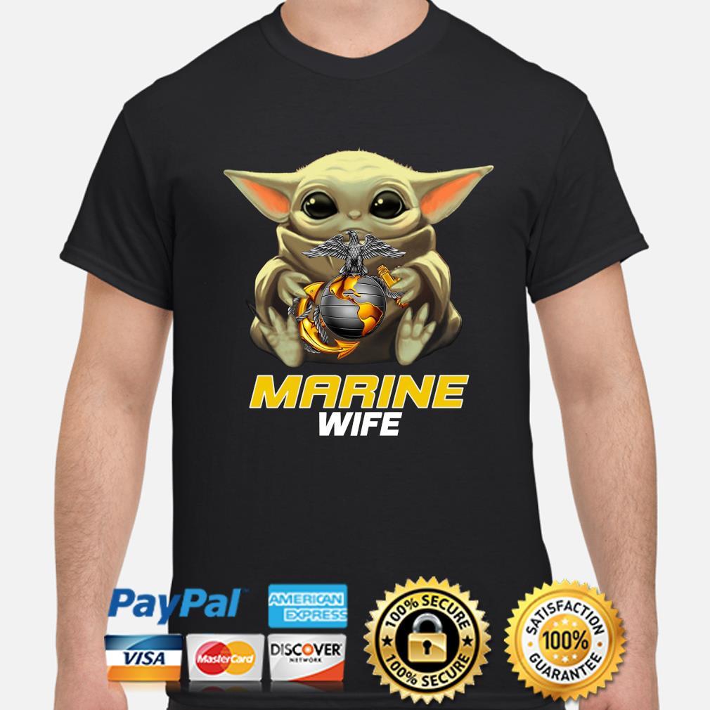 Baby Yoda Hug Marine Wife Shirt shirt