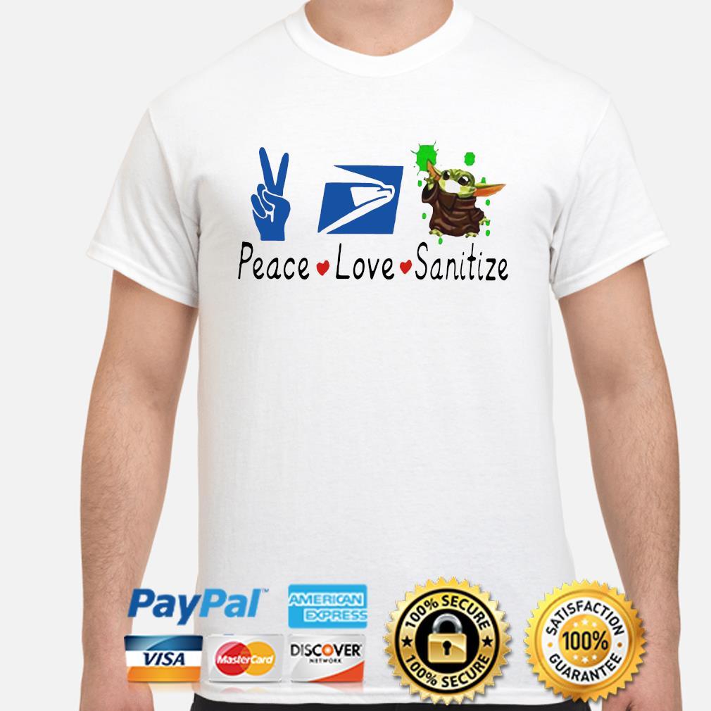 Baby Yoda peace love Sanitize shirt