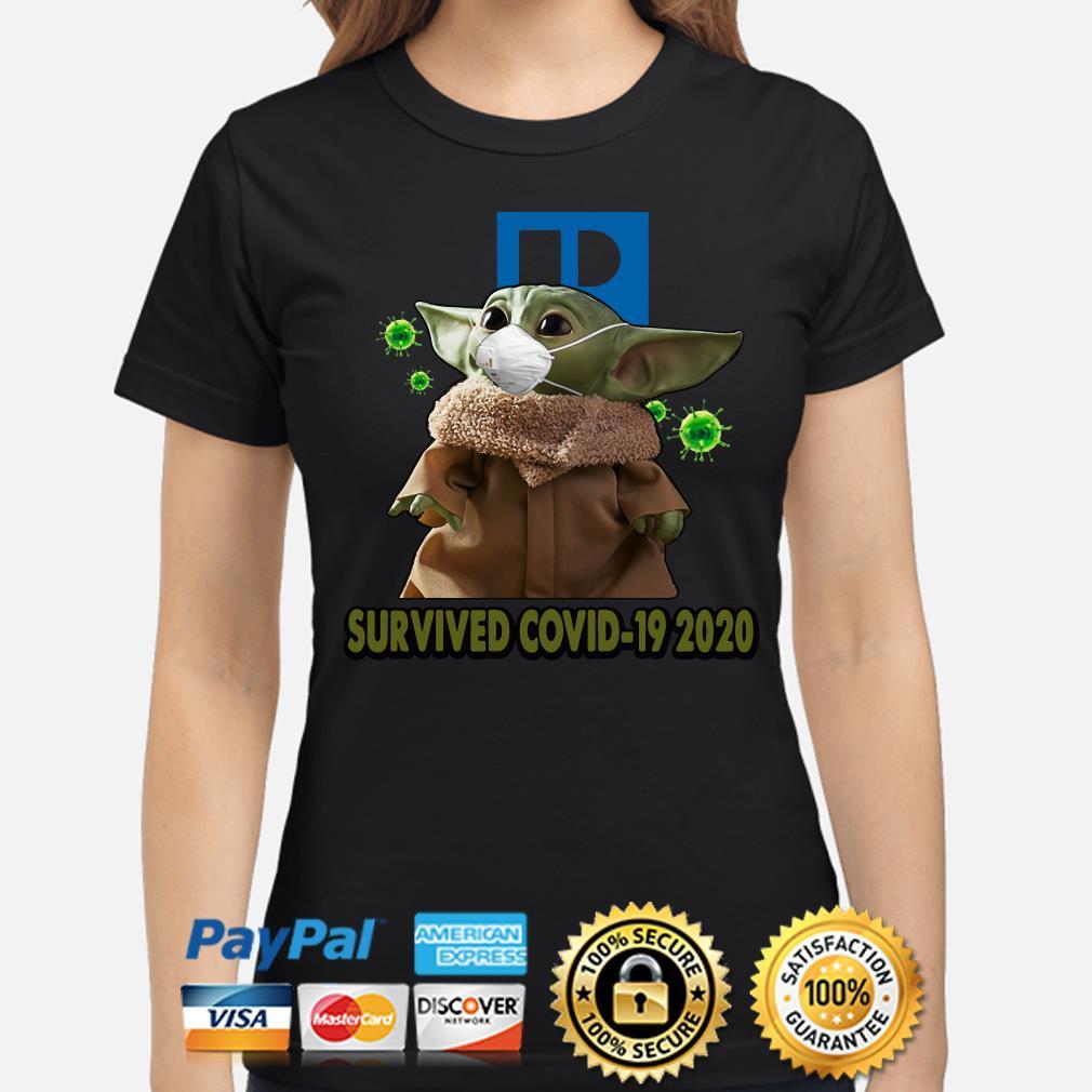 Baby Yoda Realtors Survived Covid-19 2020 s ladies-shirt