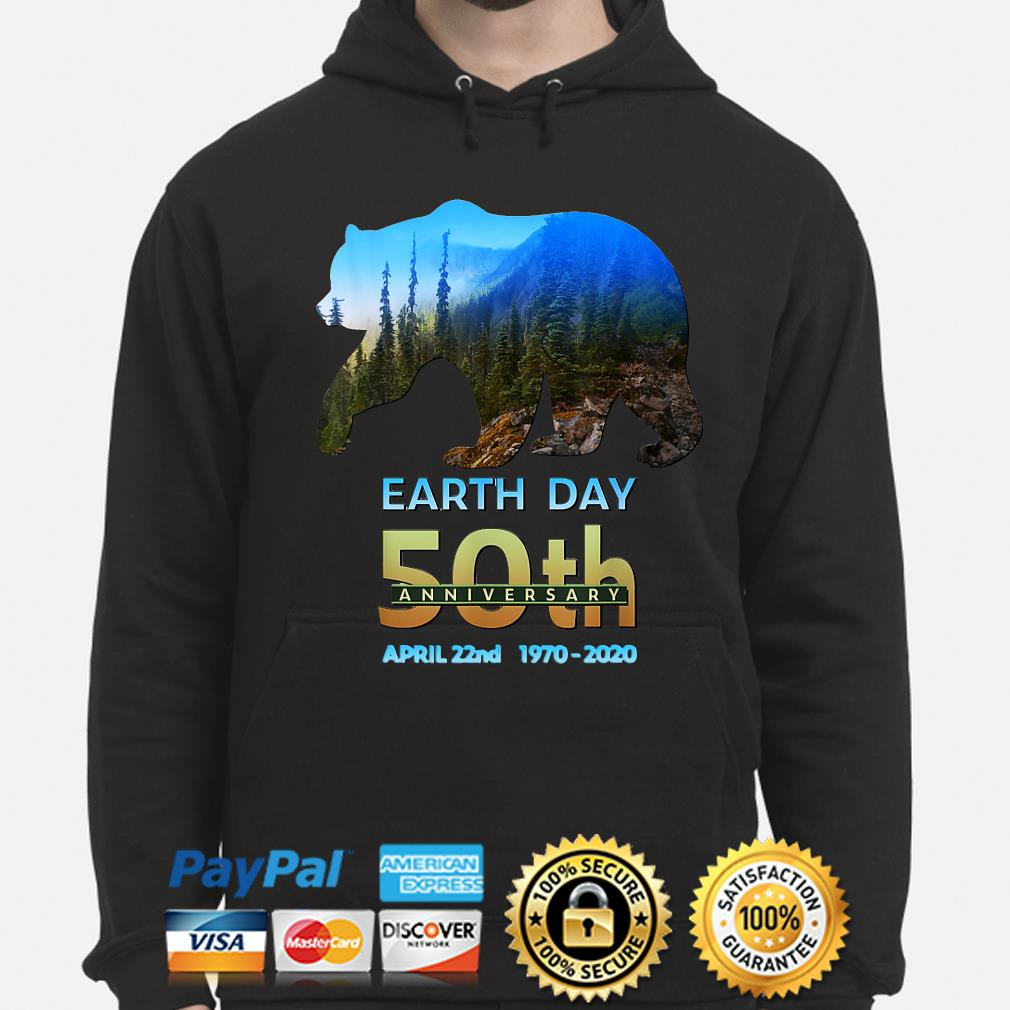 Brown Bear Earth day 50th anniversary April 22nd 2020 s hoodie