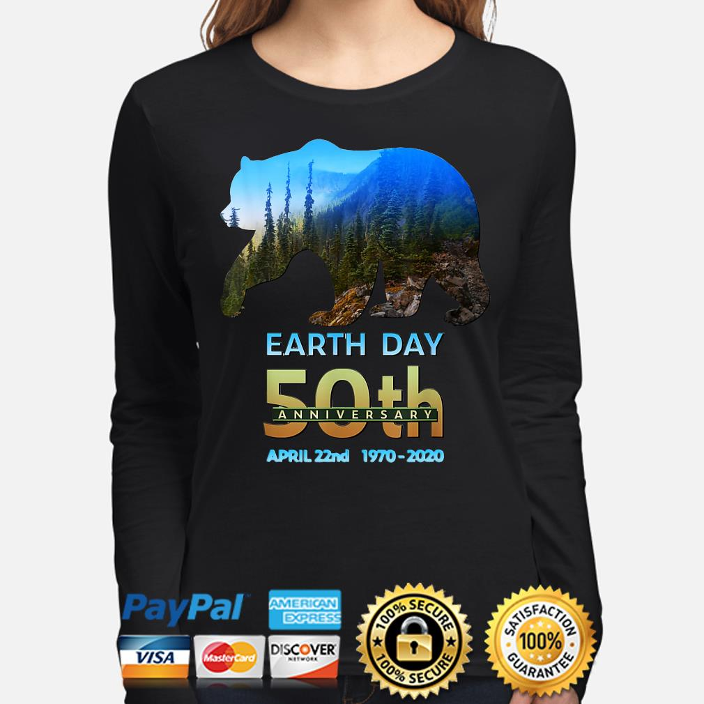 Brown Bear Earth day 50th anniversary April 22nd 2020 s long-sleeve