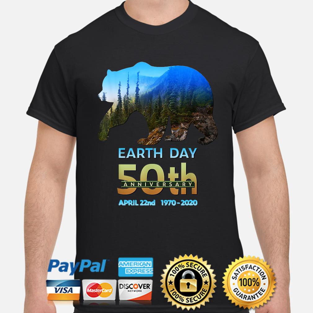 Brown Bear Earth day 50th anniversary April 22nd 2020 shirt
