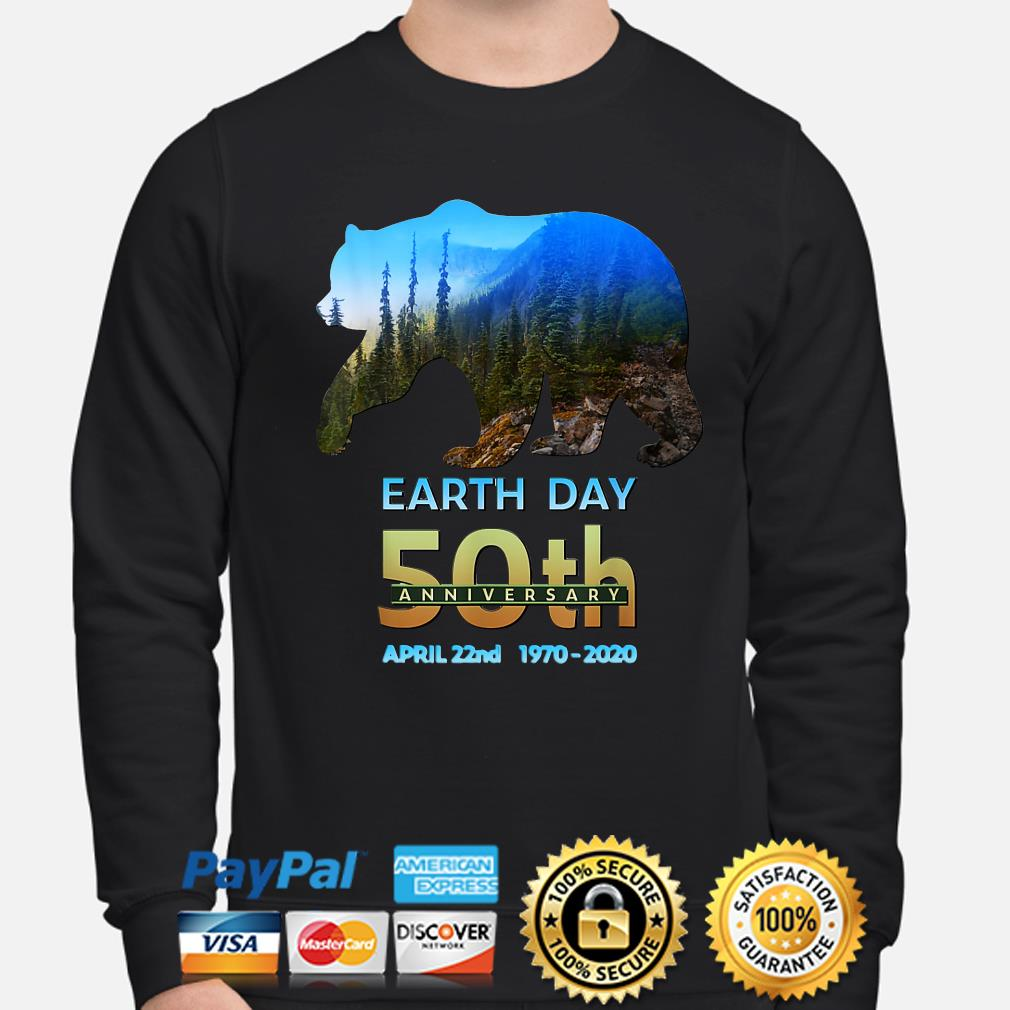 Brown Bear Earth day 50th anniversary April 22nd 2020 s sweater
