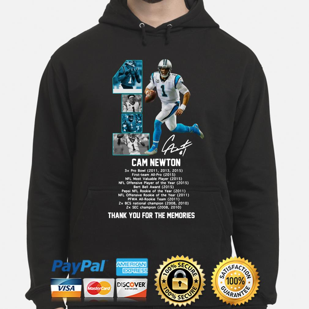 Cam Newton thank you for the memories signature s hoodie