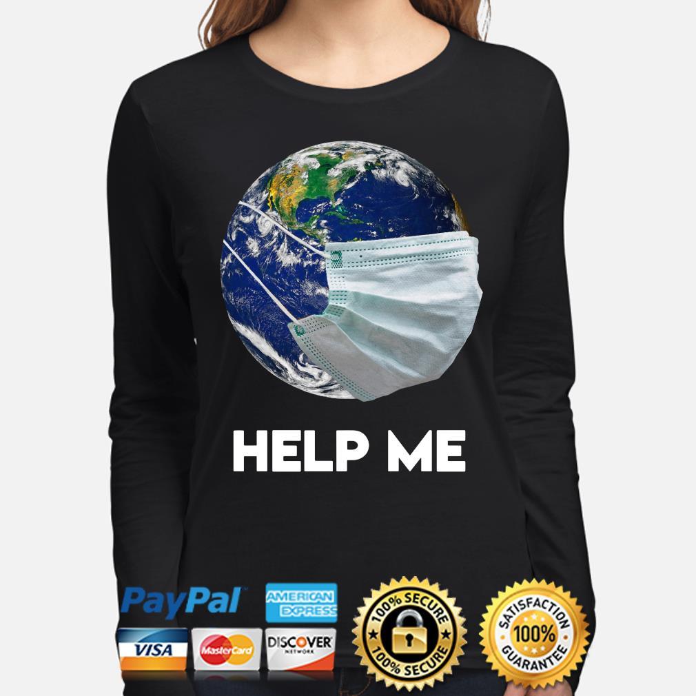 Earth wear mask help me s long-sleeve
