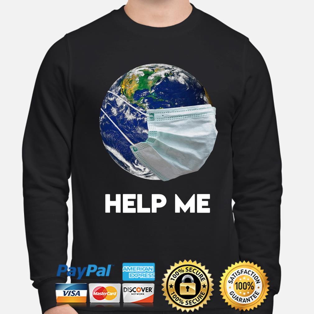 Earth wear mask help me s sweater