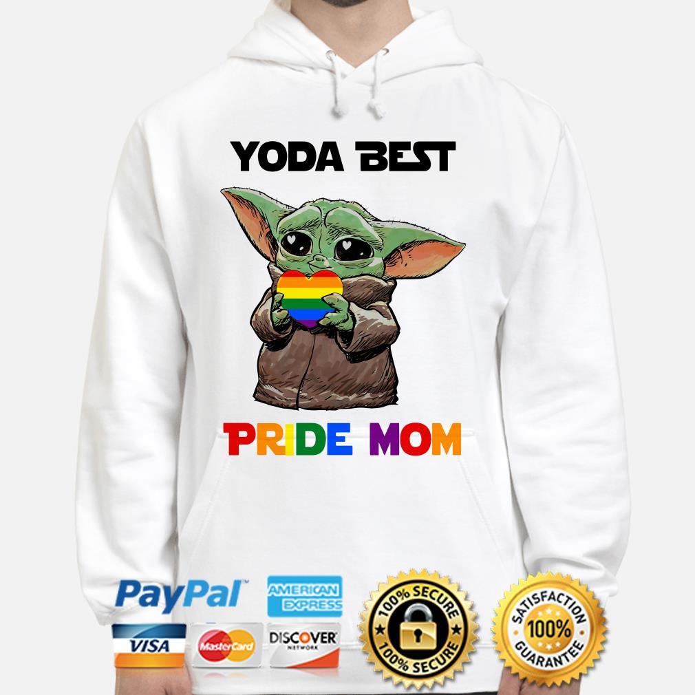 Baby Yoda best Pride mom Hoodie