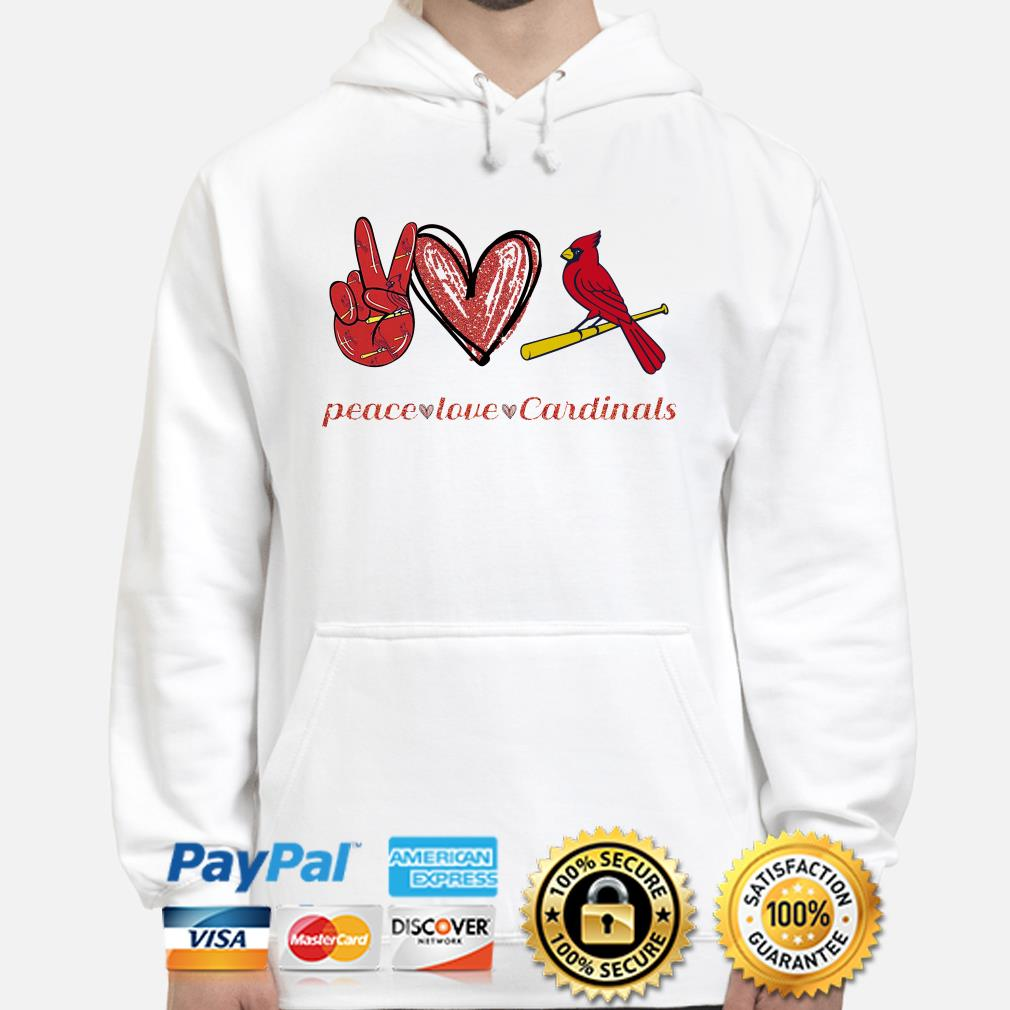 Peace love St Louis Cardinals Hoodie