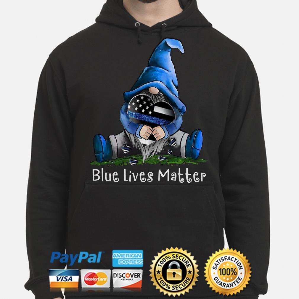 Gnomie hug American flag Blue lives matters Hoodie