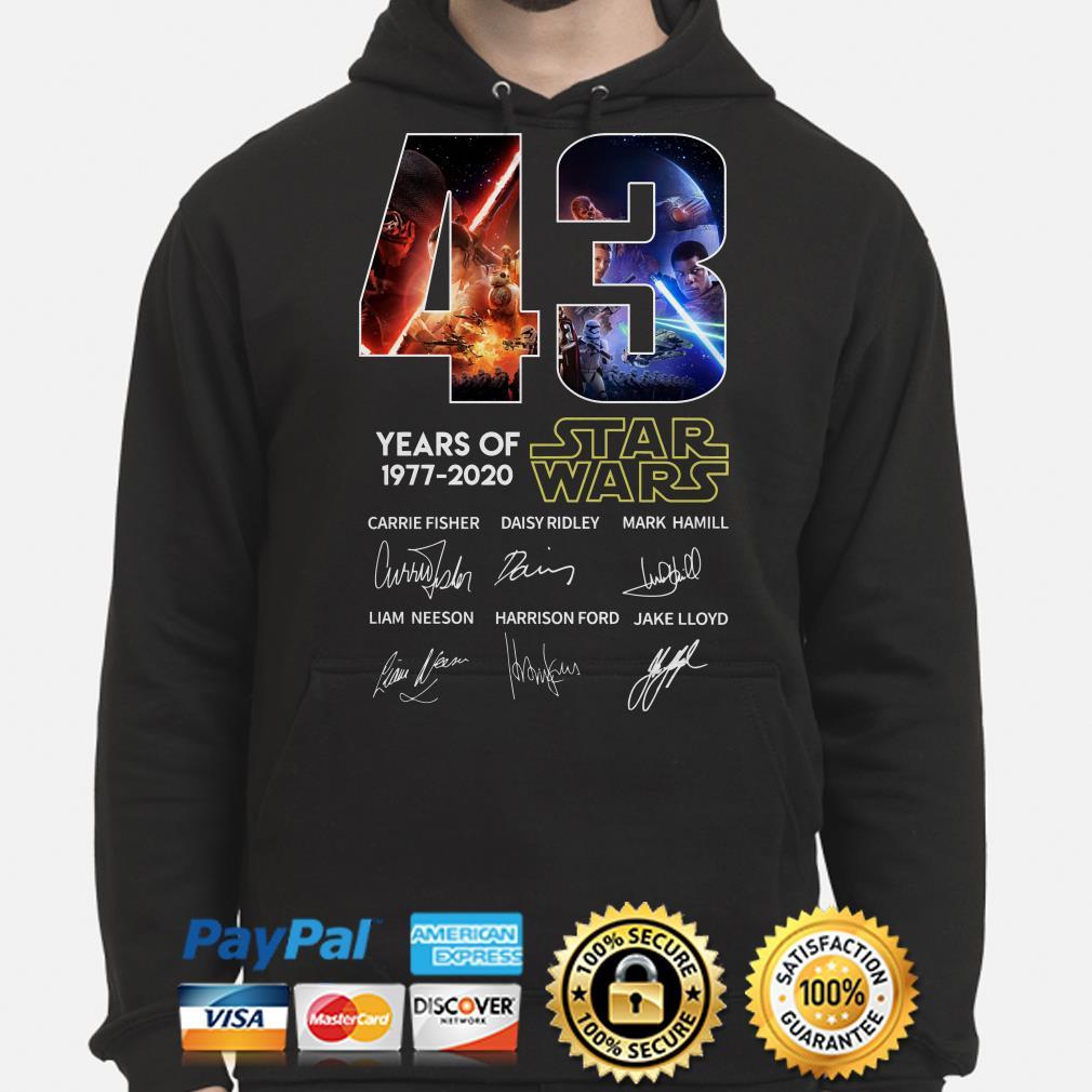43 years of Star Wars characters signature Hoodie