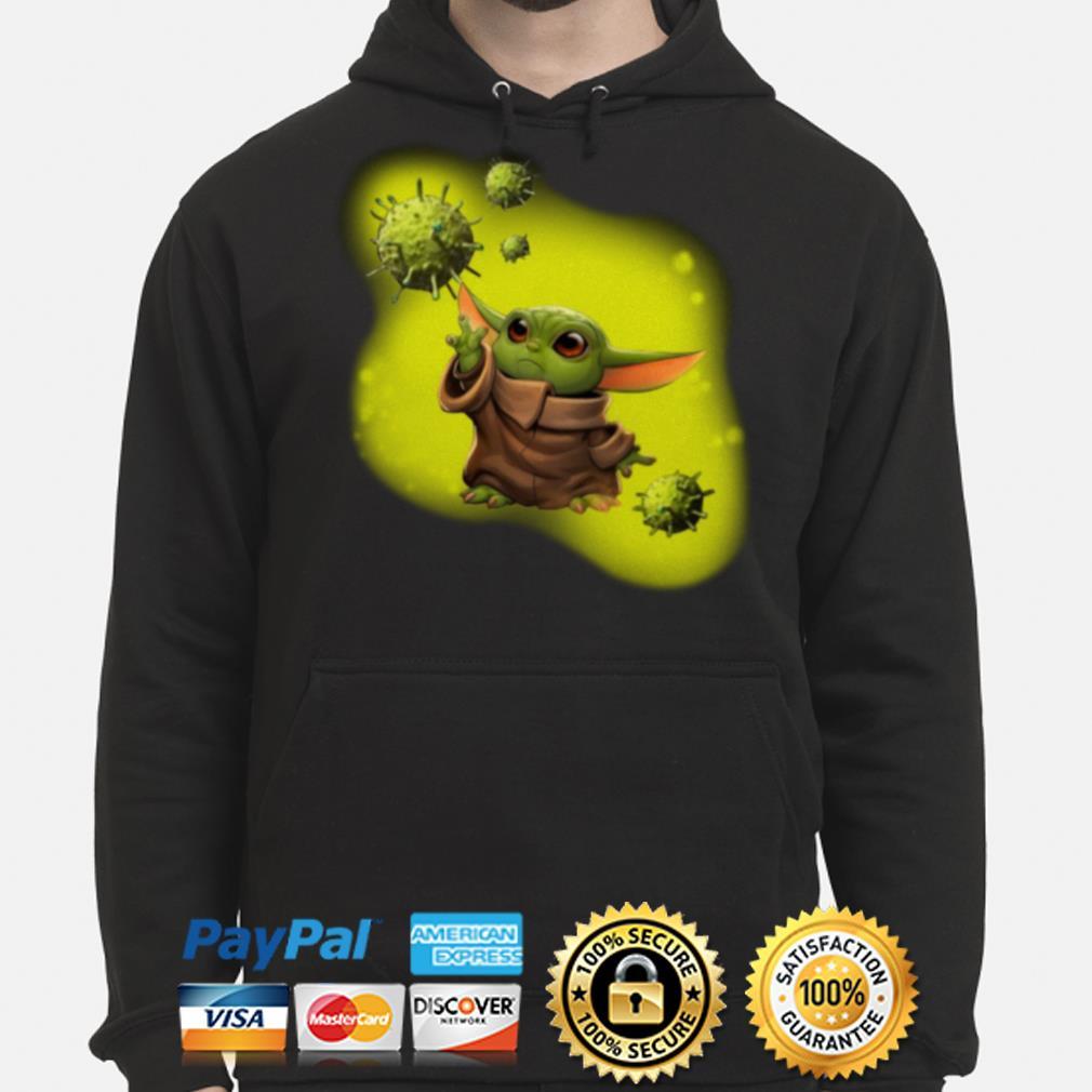 Baby Yoda against coronavirus Hoodie