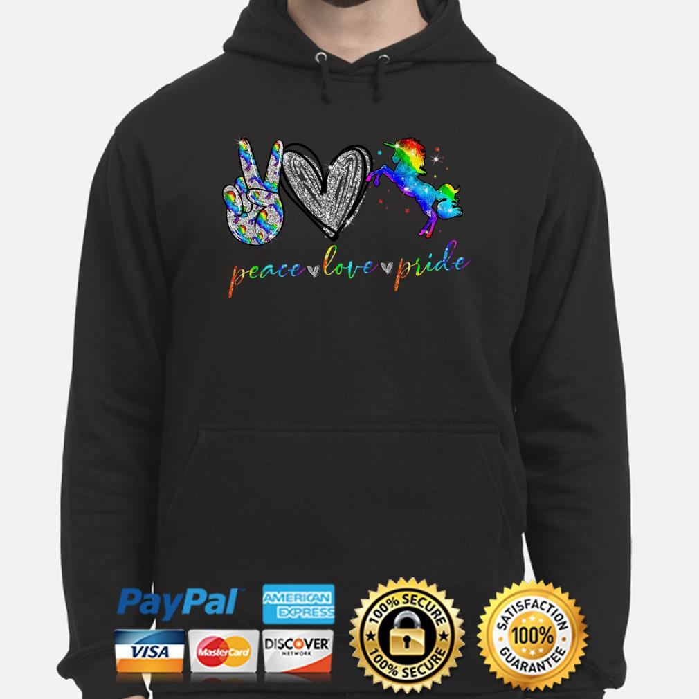 LGBT peace love pricle Heart Diamonds Hoodie