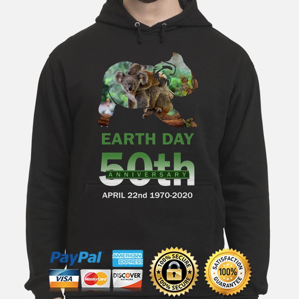 Koalas Earth day 50th anniversary April 22 2020 Hoodie