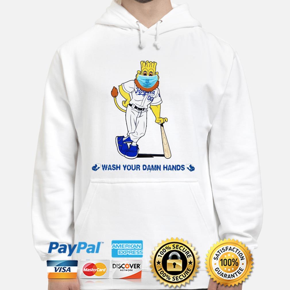 Kansas City Royals mascot wash your damn hands Hoodie