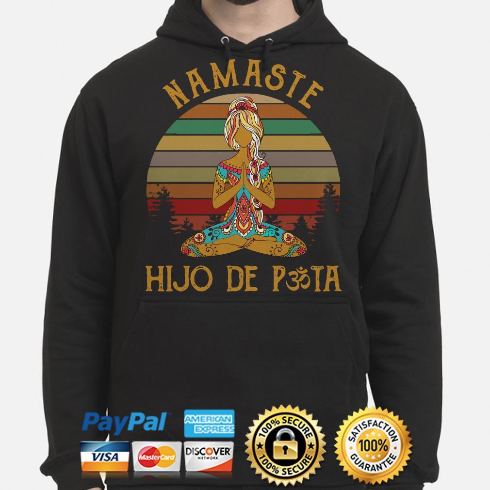 Yoga girl Namaste Hijo De Pasta vintage Hoodie