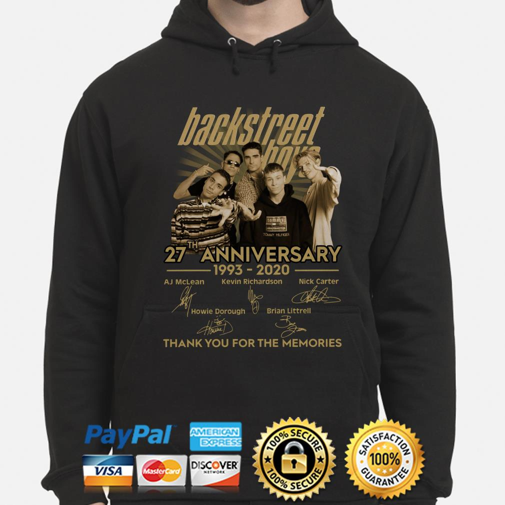Backstreet Boys 27th anniversary thank you for the memories signature Hoodie
