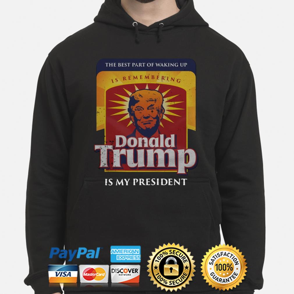 Donald Trump is my president the best part of walking up Hoodie